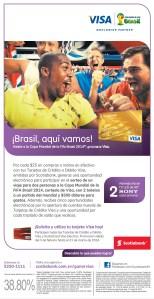 VISA Brasil aqui vamos copa mundial de la FIFA 2014