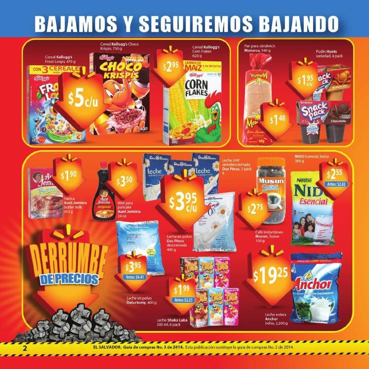Walmart Guia de compras No3 cereales leche