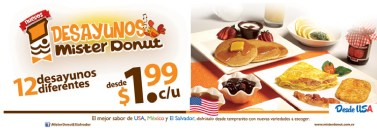 el salvador Mister Donut DESAYUNOS USA