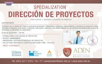 especializacion Direccion de Proyectos ADEN international business school