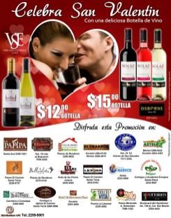 promocion Celebra San Valentin con Botella de vino SOLAZ