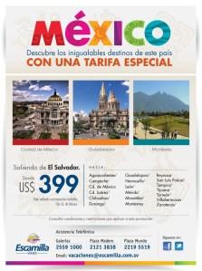 viajes Mexico descubre destinos con tarifa especial Escamilla viajes - 19feb14