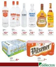 AHORRO con promociones SUPER SELECTOS licores cervezas vodka - 06mar14