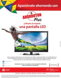 Ahorroton PLUS pantalla LED BAC Credomatic - 12mar14