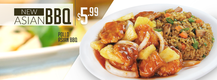 CHINA WOK el salvador New platillo de pollo ASIAN BBQ