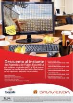 Descuento al INSTANTE davivienda viajes escamilla - 12mar14