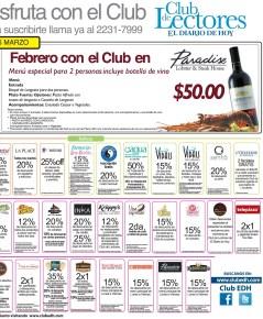 Descuentos Promociones Ofertas Beneficios CLUB DE LECTORES -- 09mar14