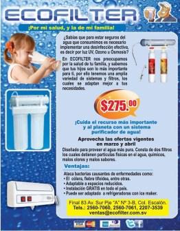 ECOFILTER filtro para purificar agua - 22mar14