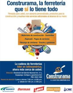Ferreteria CONSTRURAMA el salvador DESCUENTOS y ofertas - 24mar14