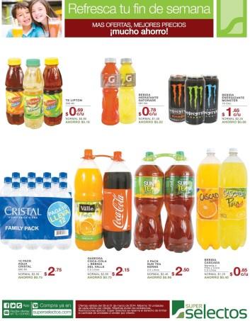 Juegos gaseosas agua bebidas OFERTAS super selectos sv - 29mar14