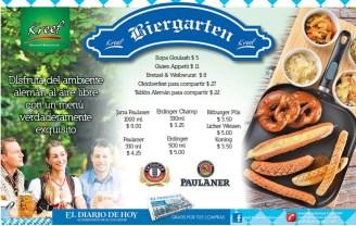 Kreef BIERGARTEN bretzel weibwurs guten appetit - 01mar14