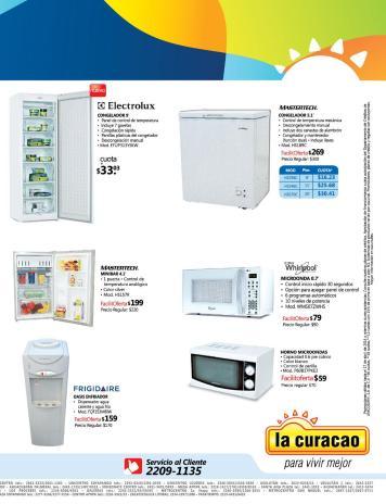 La Curacao SV ofertas refrieradores congeladores oasis