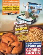 POLLO CAMPERO el salvador promocion combo DELTA airlines EEUU