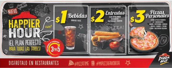 PizzaTIME gracias a HAPPY HOUR pizza hut sv - 24mar14