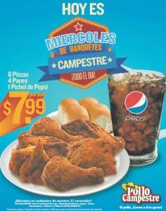 Recuerda hoy MIERCOLES de banquetes POLLO CAMPESTRE - 04mar14