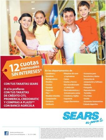 SEARS el salvador festival de cuotas sin interes tarjetas de credito - 07mar14