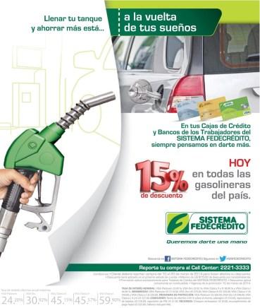 Sistema Fedecretido HOY lunes llena tu tanque de gasolina DESCUENTOS - 10mar14