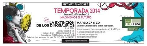 Teatro luis poma el salvador EXTINCION DE LOS DINOSAURIOS - 28mar14