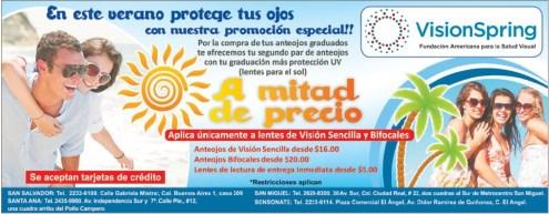 VISION SPRING salud visual promcoiones de verano - 09mar14