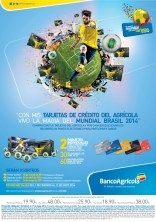 VIVE el mundial brasil 2014 con las tarjetas de credito de BANCO AGRICOLA - 03mar14