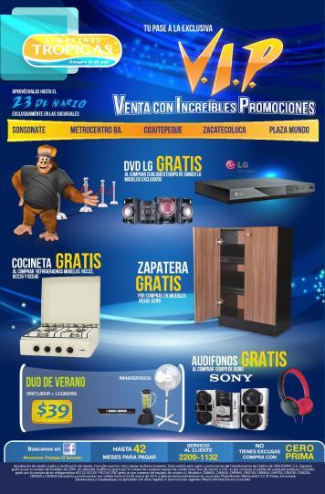 Venta con increibles promociones VIP Almacenes Tropigas el salvador