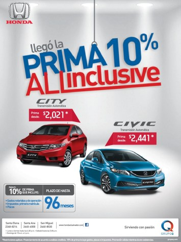 autos HONDA civic city GRUPO Q promotion - 12mar14