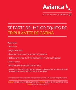 empleos AVIANCA el salvador tripulantes de cabina - 27mar14