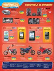 ofertas Almacenes Tropigas El salvador verano 2014 motos audio video tecnologia