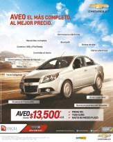Chevrolet AVEO el mas completo al mejor precio