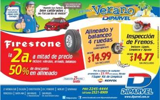 Firestone TIRES summer promotion - 14abr14