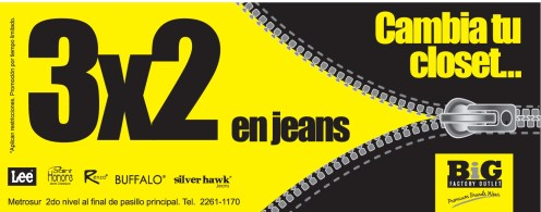 cambia tu closet PROMOCION 3x2 jeans - 25abr14