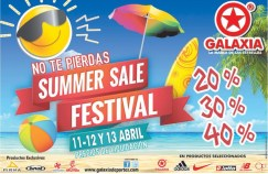 summer sale FESTIVAL discounts GALAXIA - 11abr14
