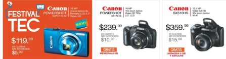 CANON powershot cameras savings - 23may14