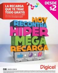 HOY recontra hyper mega recarga DIGICEL el salvador - 30may14