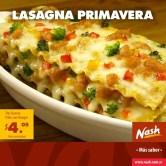 Lasagna primavera tres quesos pollo con hongos NASH