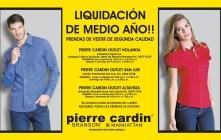 PIERRE cardin Liquidacion de medio año - 30may14