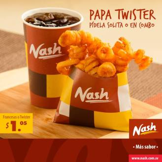 Papas fritas francesas o twister NASH