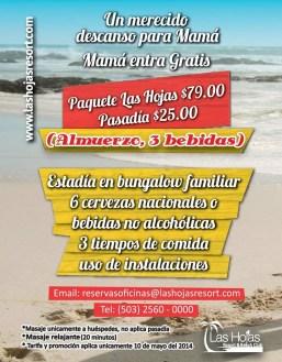 Promocion LAS HOJAS resort beach club - 08may14