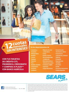Promocion credit card SEARS sv - 16may14