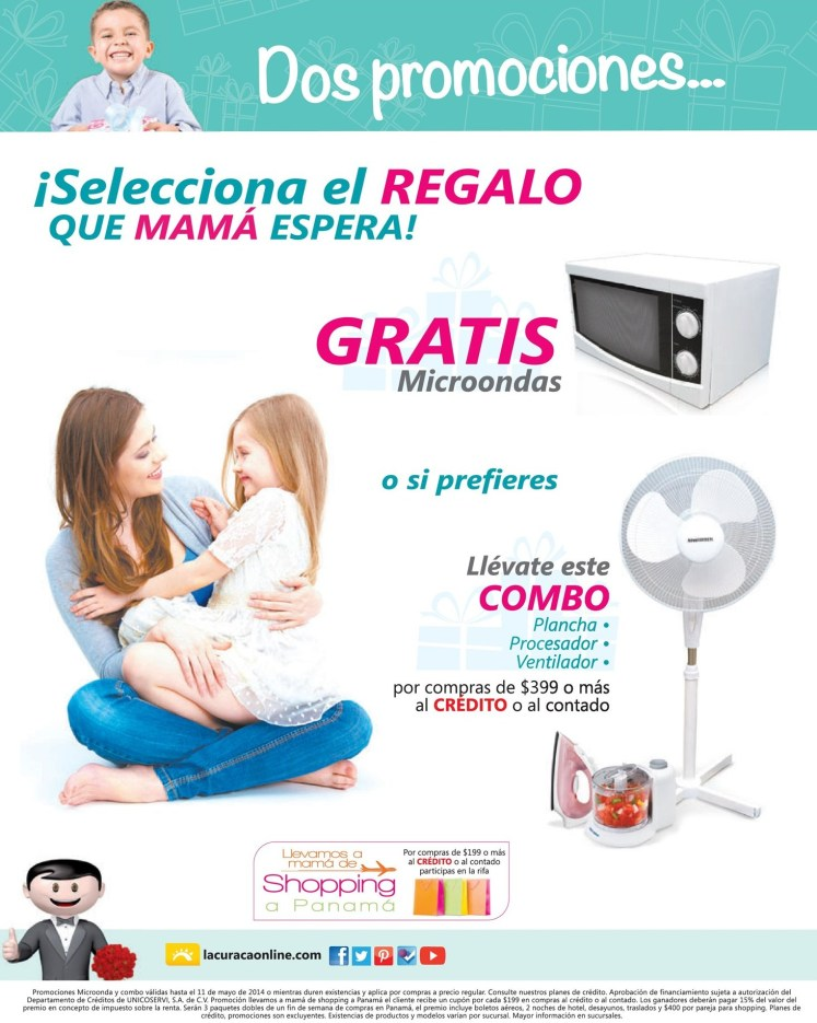 Promociones DIA de la Madres La Curacao - 08may14