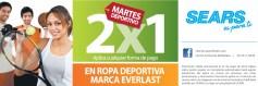 ROPA deportiva EVERLAST 2x1 promocion SEARS - 27may14
