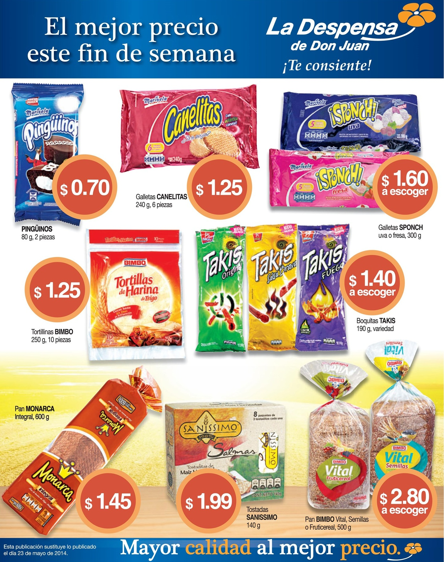 Snacks Cookies Bread Integral LA DESPENSA DE DON JUAN ofertas - 30may14