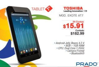 Tablet 7 pulgadas TOSHIBA excite AT7 en PRADO - 21may14
