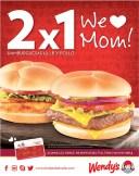 WE love MOM burger promociones WENDYS - 10may14
