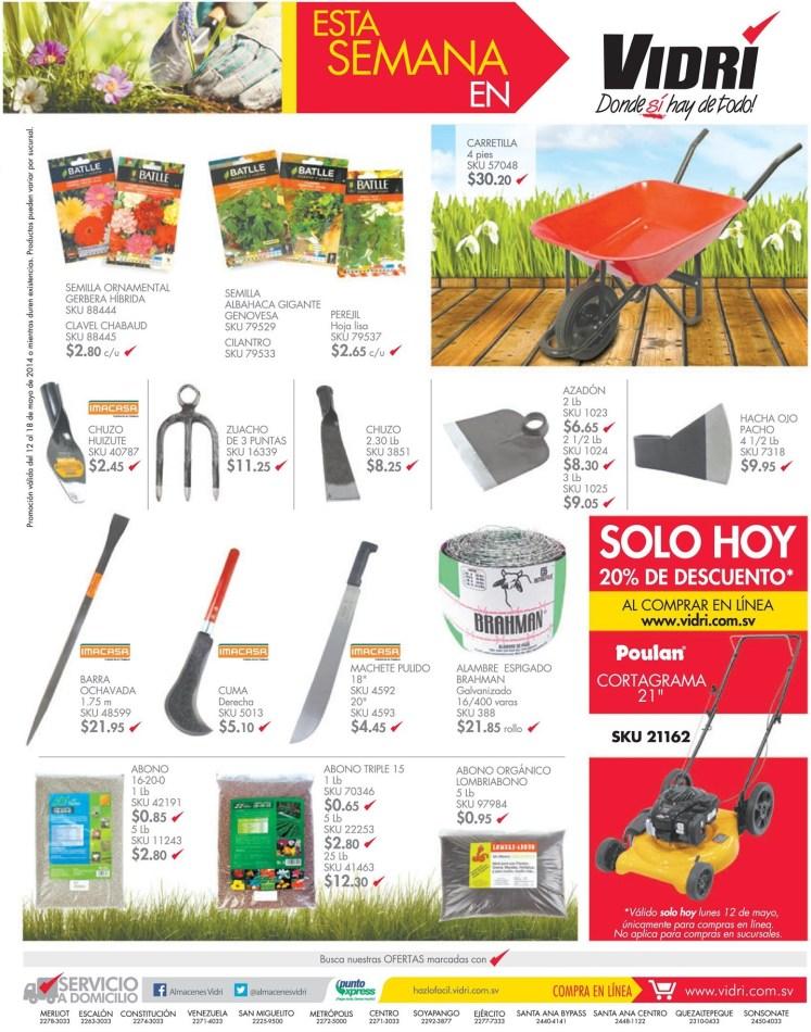 Accesorios y herramientas para jardin almacenes vidri el for Accesorios de jardin