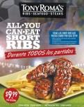 All you can eat SHORT RIBS Tony Romas promotion - 24jun14