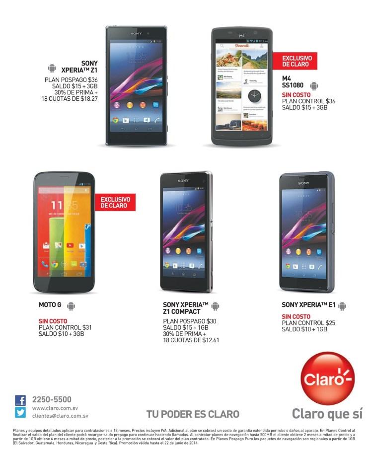 CLARO celulares SONY XPERIA - 09jun14