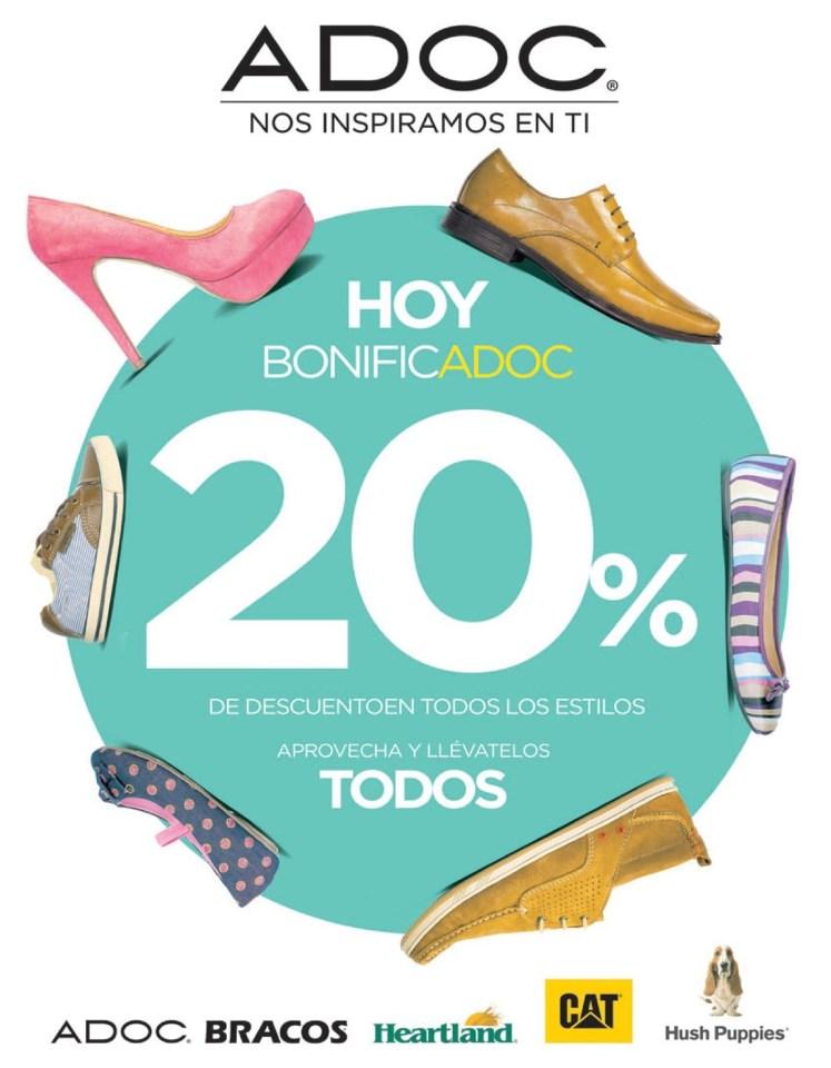 DESCUENTO zapatos hoy BONIFICA ADOC calzado el salvador - 06jun14
