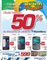 Descuento en celulares BLACKBERRY prado ofertas - 28jun14