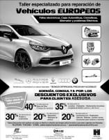 Descuentos en vehiculos europeos servcio de taller especializado - 04jun14